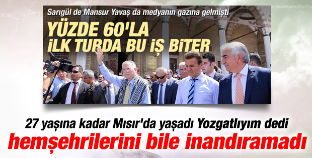 Ekmeleddin İhsanoğlu Yozgat'ta hüsrana uğradı