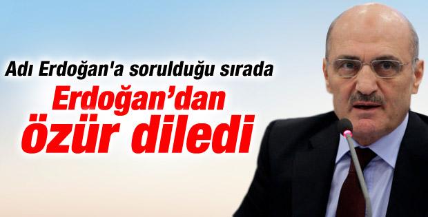 Erdoğan Bayraktar Başbakan'dan özür diledi