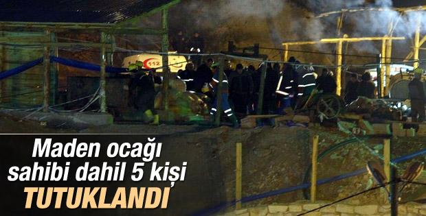 Ermenek'te maden sahibi dahil 5 kisi tutuklandı