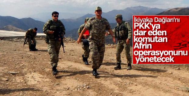 Afrin operasyonunu Korgeneral Temel yönetecek