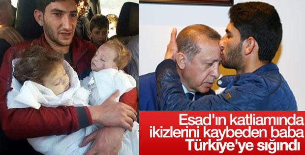 Sarın gazıyla öldürülen ikizlerin babası Türkiye'de