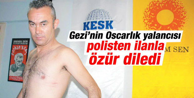 Gezi'de dövdüler diyen öğretmenden polise ilanlı özür
