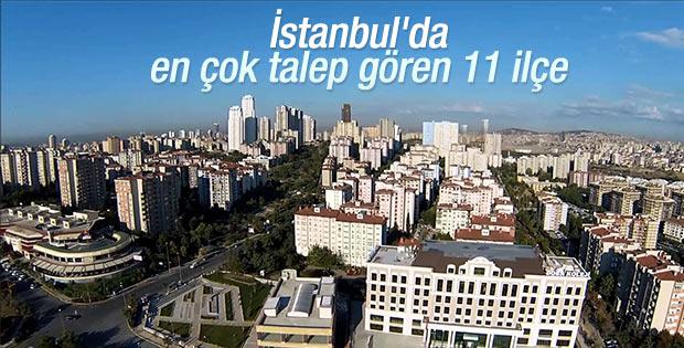 İstanbul'da marka projelerin talep gördüğü 11 ilçe