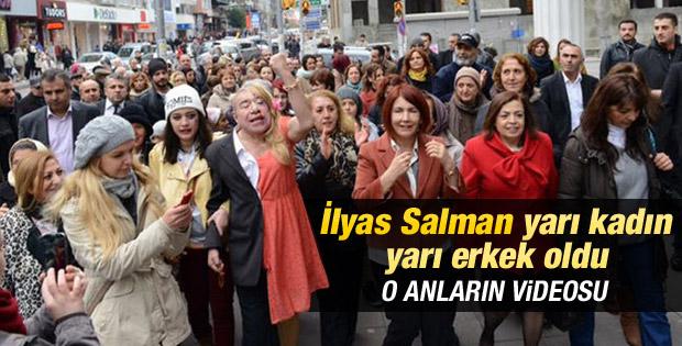 İlyas Salman'ın kadın eylemindeki görüntüleri