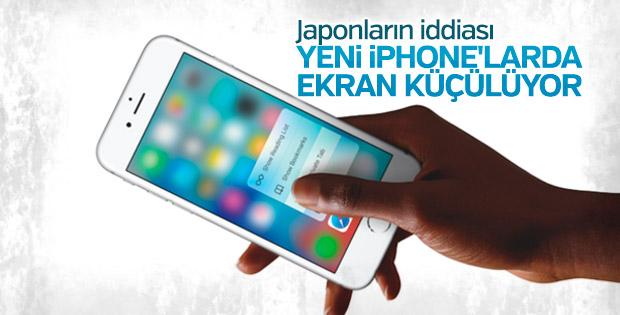 Yeni iPhone'larda ekran küçülüyor
