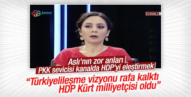 Aslı Aydıntaşbaş PKK sevicisi kanalda HDP'yi eleştirdi
