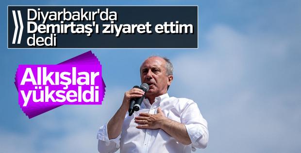 Muharrem İnce Diyarbakır'da miting düzenledi