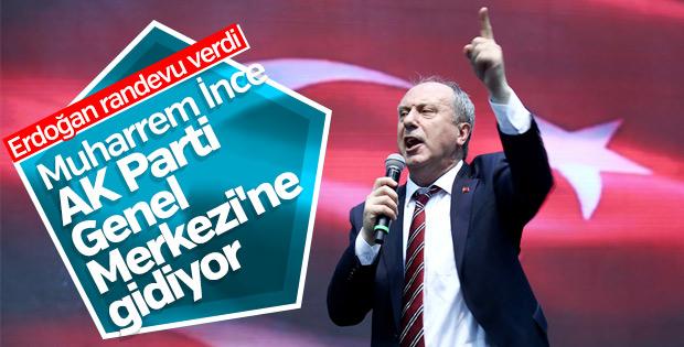Erdoğan-İnce bu akşam 21.00'de görüşecek