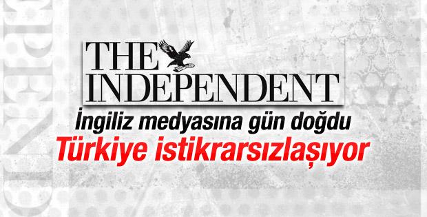 İngiliz medyasına gün doğdu: Türkiye istikrarsızlaşıyor