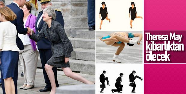 İngiltere Başbakanı Theresa May alay konusu oldu