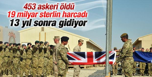 İngiltere ordusu Afganistan'dan tamamen çekildi