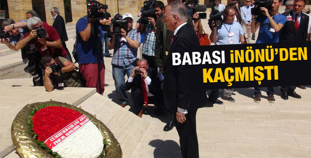 İhsanoğlu İnönü'nün mezarını da ziyaret etti İZLE