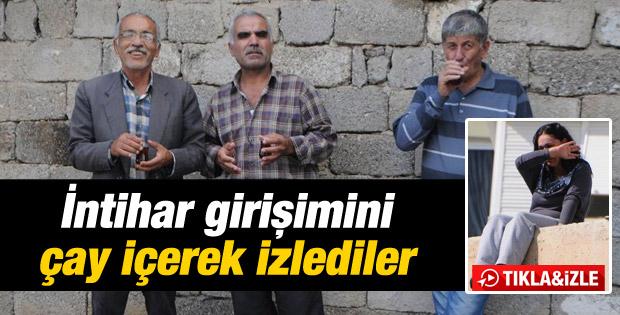 Antalyalılar intihar girişimini çay içerek izlediler