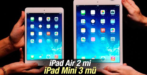 iPad Air 2 ve iPad Mini 3 karşılaştırması