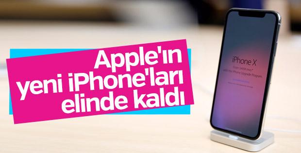Apple'ın yeni iPhone'ları elde kaldı