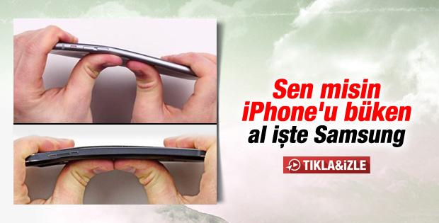Samsung Galaxy Note 4 iPhone 6 gibi büküldü - İzle