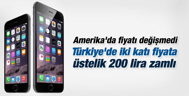 iPhone 6 Türkiye'de 200 lira zamlı satılacak