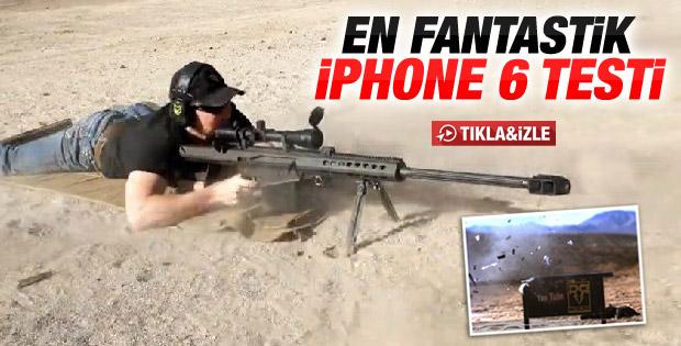 Ağır makineli silahla iPhone 6 sağlamlık testi