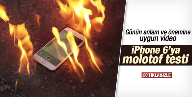 iPhone'u molotofladılar