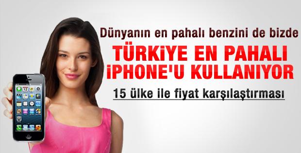 iPhone'un en pahalı olduğu ülke Türkiye