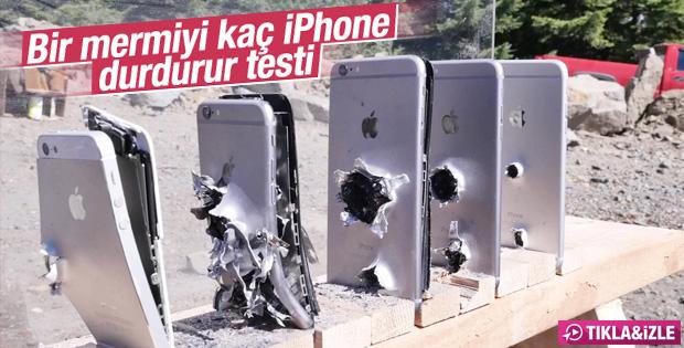 Bir mermiyi kaç iPhone durdurur testi İZLE