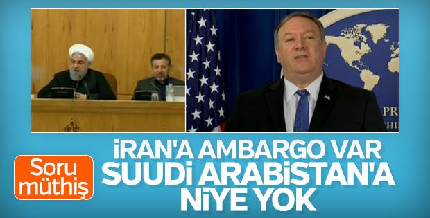 Pompeo'ya soru: Suudi Arabistan'ın İran'dan farkı ne