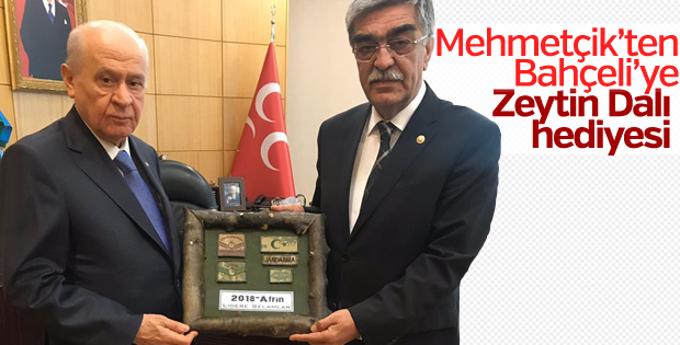 Mehmetçik'ten Bahçeli'ye anlamlı hediye