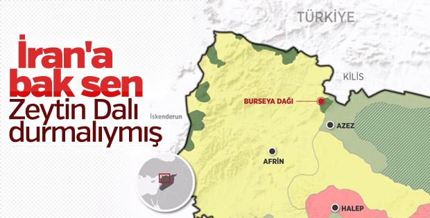İran, Afrin operasyonunun durdurulmasını istedi