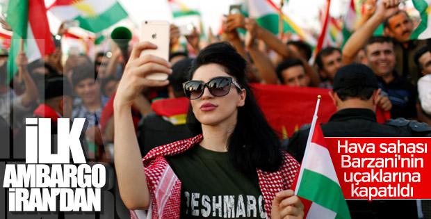 İran'dan Kuzey Irak'a hava ambargosu