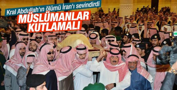 İran siyasi otoritesi Kral Abdullah'ın ölümünü kutladı