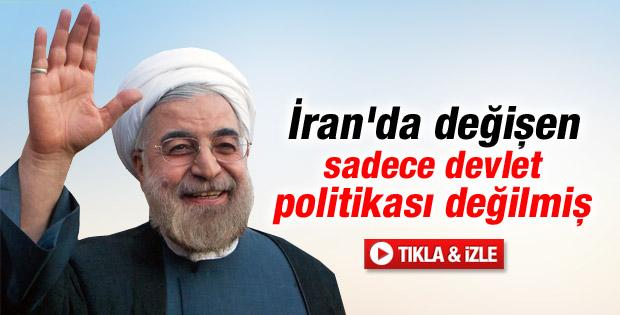 İranlılar şaşkın: Reformcu Ruhani'den şarkılı video