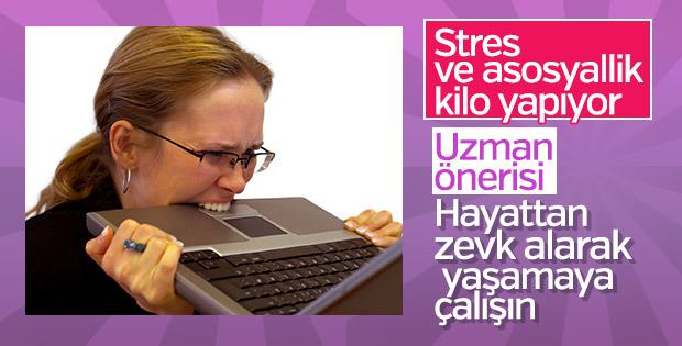 Sosyal hayat eksikliği ve stres kilo aldırıyor