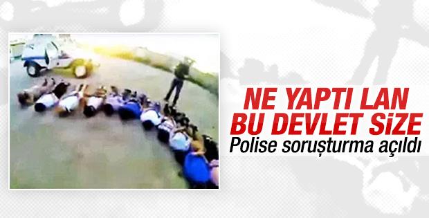 Şantiye işçilerini yere yatıran polislere soruşturma