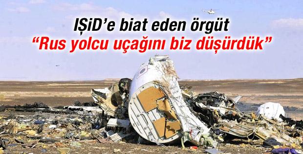 IŞİD: Rus yolcu uçağını biz düşürdük