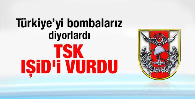 TSK IŞİD konvoyunu vurdu