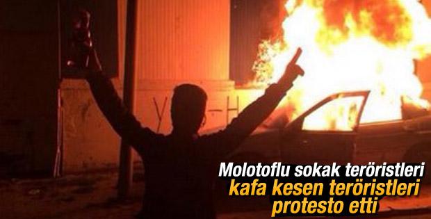 Dolapdere ve Gazi Mahallesi'nde IŞİD protestosu
