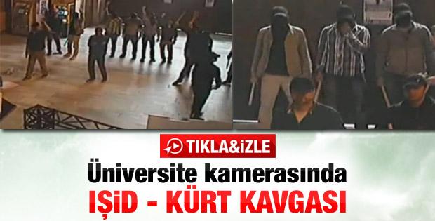 İstanbul Üniversitesi'ndeki IŞİD kavgası kamerada