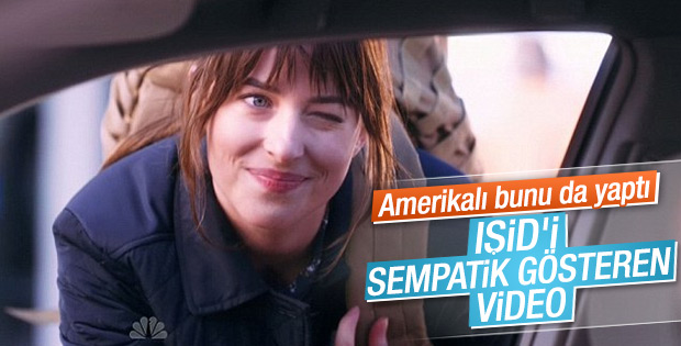 Dakota Johnson'dan IŞİD reklamı gibi parodi VİDEO