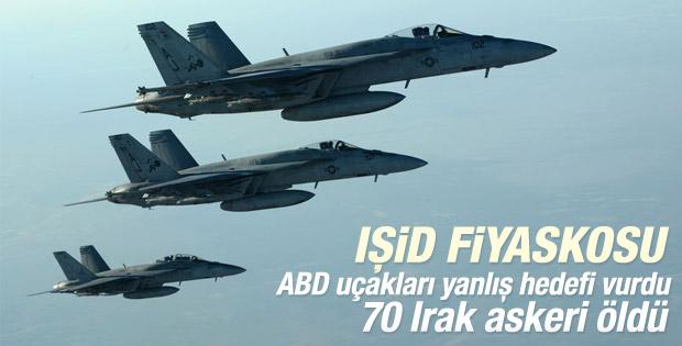 ABD hava saldırısında 70 Irak askeri öldü