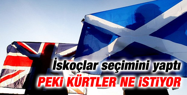 Kürtler de İskoçlar gibi bağımsızlık istiyor mu