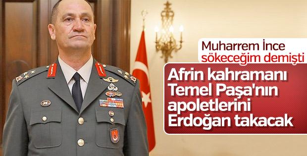 İsmail Metin Temel'in apoletlerini Başkan Erdoğan takacak