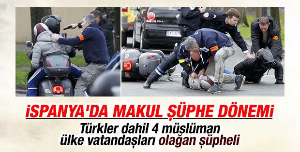Türkler İspanya'da olağan şüpheli sayılacak