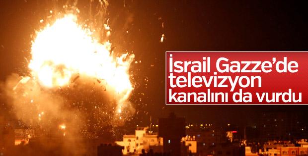 İsrail ordusu televizyon kanalını bombaladı