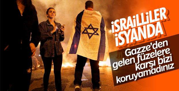 İsrailliler güvenlik zafiyetini protesto etti
