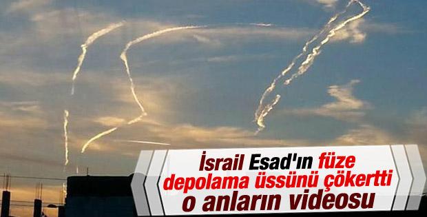 İsrail'den Suriye topraklarına saldırı İZLE