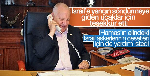 Rivlin'den Cumhurbaşkanı Erdoğan'a teşekkür telefonu
