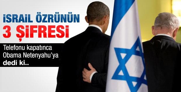 İsrail özrünün 3 şifresi