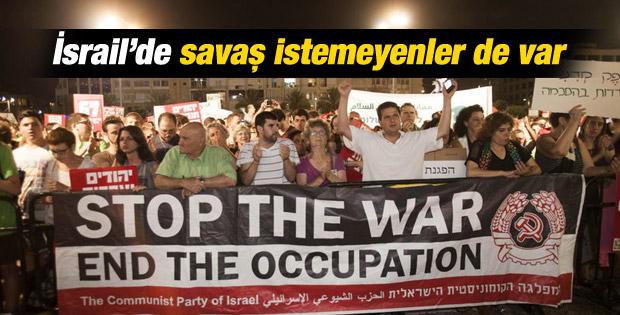 İsrailliler Gazze saldırılarını protesto etti