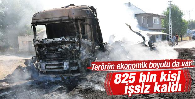 PKK 825 bin kişiyi işsiz bıraktı