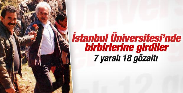İstanbul Üniversitesi'nde arbede: 7 yaralı 18 gözaltı İZLE